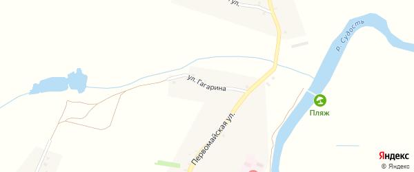 Улица Гагарина на карте села Баклани с номерами домов