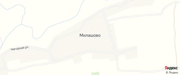 Центральная улица на карте деревни Милашово с номерами домов