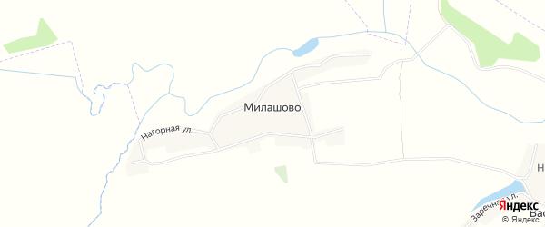 Карта деревни Милашово в Брянской области с улицами и номерами домов