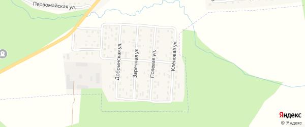 Полевая улица на карте поселка Клетня с номерами домов