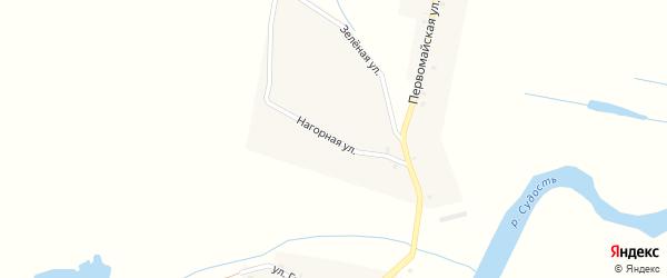Нагорная улица на карте села Баклани с номерами домов