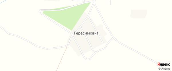 Юбилейная улица на карте деревни Герасимовки с номерами домов