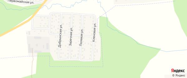 Кленовая улица на карте поселка Клетня с номерами домов