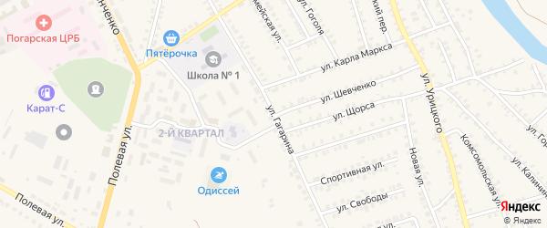 Улица Гагарина на карте поселка Погара с номерами домов