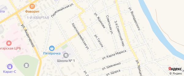 Переулок Гоголя на карте поселка Погара с номерами домов