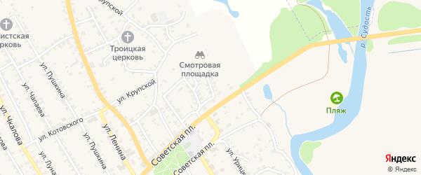 5-й Пролетарский переулок на карте поселка Погара с номерами домов