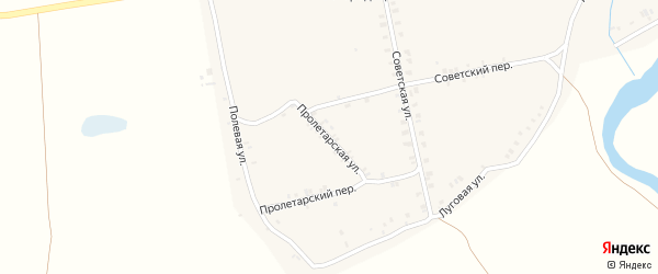 Пролетарская улица на карте села Суворово с номерами домов