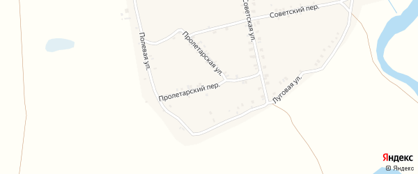 Пролетарский переулок на карте села Суворово с номерами домов