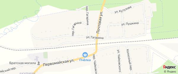 Улица Гагарина на карте поселка Клетня с номерами домов