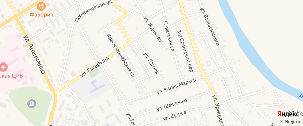 Улица Гоголя на карте поселка Погара с номерами домов