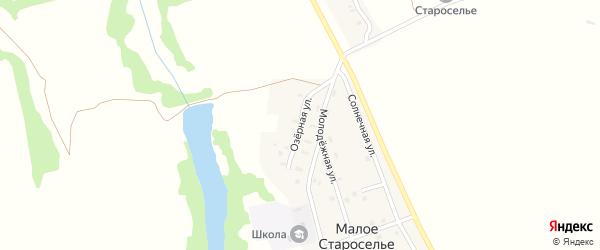 Озерная улица на карте деревни Малого Староселья с номерами домов