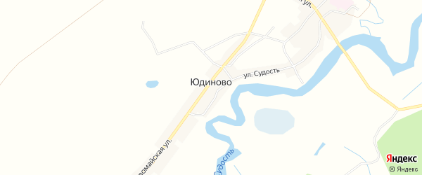 Карта села Юдиново в Брянской области с улицами и номерами домов