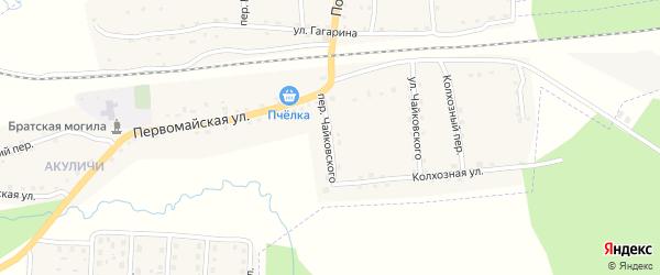Переулок Чайковского на карте поселка Клетня с номерами домов