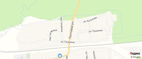 Почтовая улица на карте поселка Клетня с номерами домов