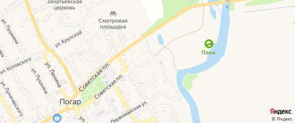 Набережная улица на карте поселка Погара с номерами домов