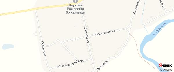 Советская улица на карте села Суворово с номерами домов