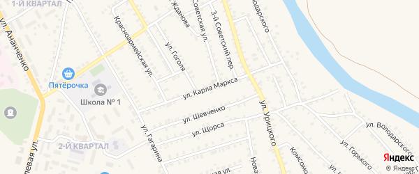 Улица Карла Маркса на карте поселка Погара с номерами домов