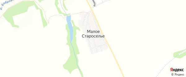 Карта деревни Малого Староселья в Брянской области с улицами и номерами домов
