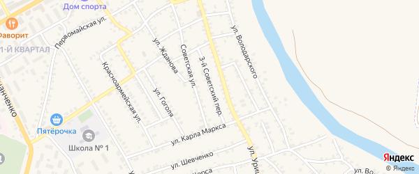 3-й Советский переулок на карте поселка Погара с номерами домов