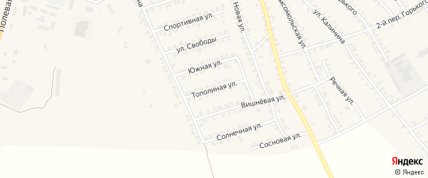 Тополиная улица на карте поселка Погара с номерами домов
