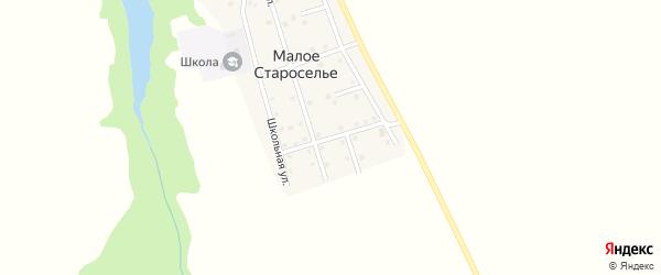 Полевая улица на карте деревни Малого Староселья с номерами домов