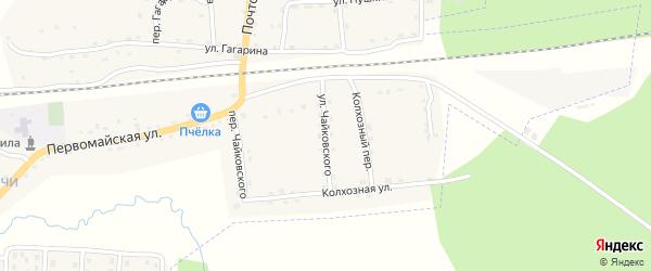 Улица Чайковского на карте поселка Клетня с номерами домов