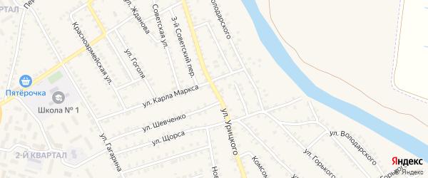 Улица Урицкого на карте поселка Погара с номерами домов