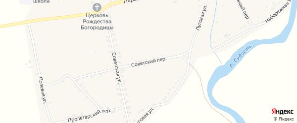 Советский переулок на карте села Суворово с номерами домов