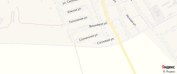 Солнечная улица на карте поселка Погара с номерами домов