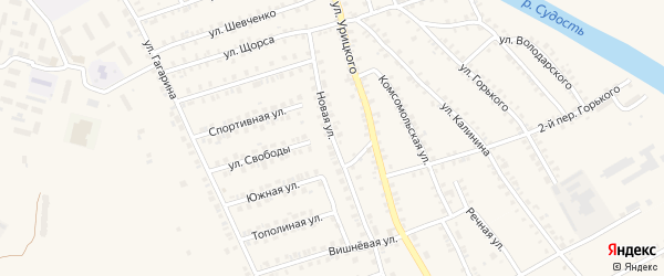 Новая улица на карте поселка Погара с номерами домов