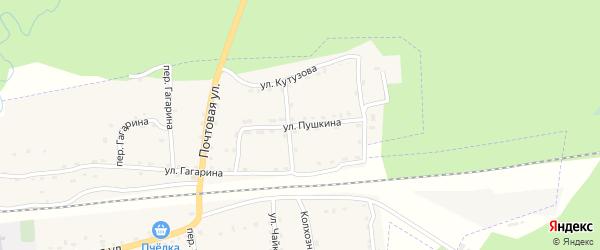 Улица Пушкина на карте поселка Клетня с номерами домов