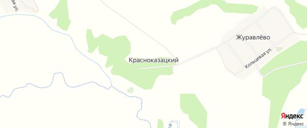 Карта Красноказацкого поселка в Брянской области с улицами и номерами домов