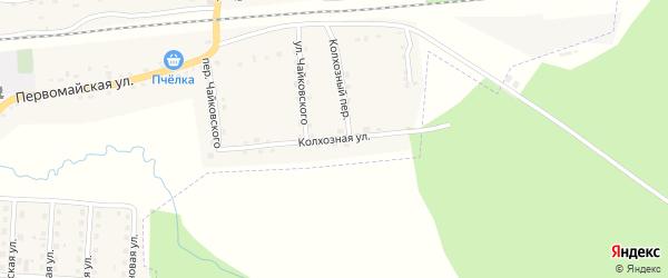 Колхозная улица на карте поселка Клетня с номерами домов