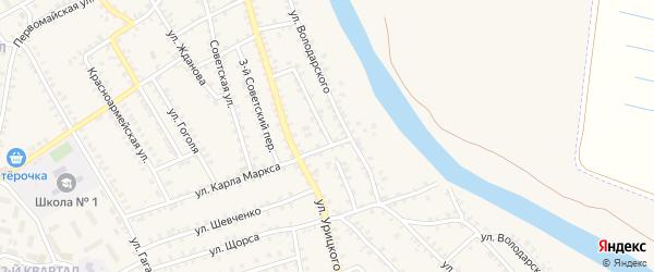 Партизанская улица на карте поселка Погара с номерами домов