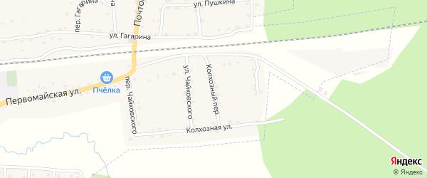 Колхозный переулок на карте поселка Клетня с номерами домов