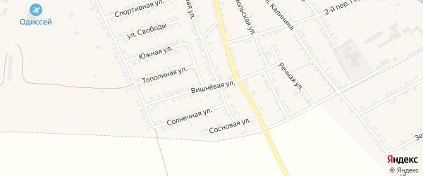 Вишневая улица на карте поселка Погара с номерами домов