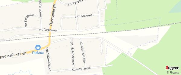 Улица Ломоносова на карте поселка Клетня с номерами домов