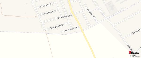 Сосновая улица на карте поселка Погара с номерами домов