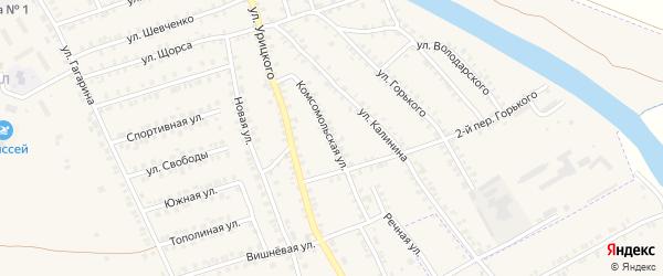 Комсомольская улица на карте поселка Погара с номерами домов