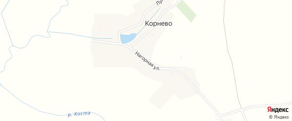 Нагорная улица на карте деревни Корнево с номерами домов