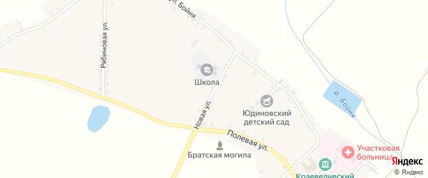 Новая улица на карте села Юдиново с номерами домов
