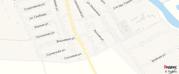 Комсомольский переулок на карте поселка Погара с номерами домов