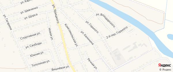 Улица Калинина на карте поселка Погара с номерами домов