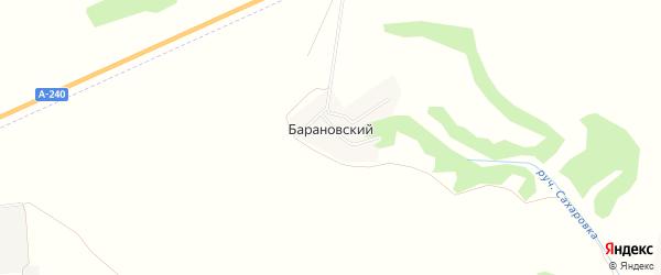 Карта Барановского поселка в Брянской области с улицами и номерами домов