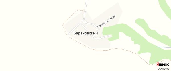 Прогреская улица на карте Барановского поселка с номерами домов