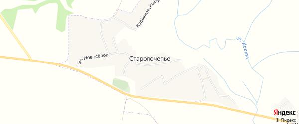 Карта села Старопочепья в Брянской области с улицами и номерами домов