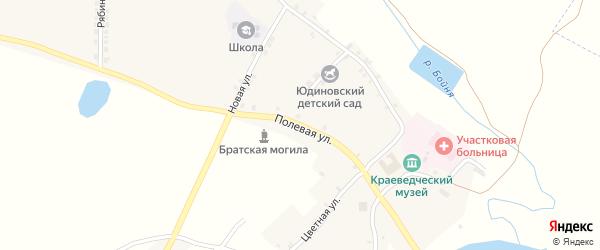 Полевая улица на карте села Юдиново с номерами домов