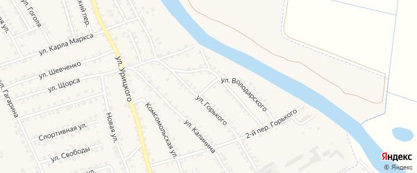 Переулок 1-й Горького на карте поселка Погара с номерами домов