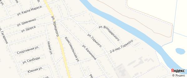 Улица Горького на карте поселка Погара с номерами домов