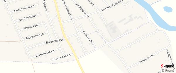 Речная улица на карте поселка Погара с номерами домов